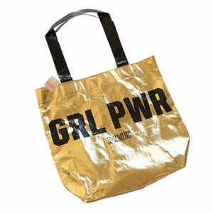 5/$25 BUNDLE NWT VS Pink Gold Girl Power Tote